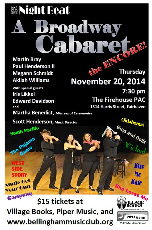 Broadway Cabaret - the Encore   Nov. 20 2014 for email